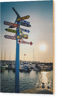 Wood Print featuring the photograph Destination Egg Harbor by Mark David Zahn