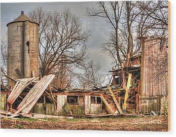Destruction Barn Wood Print by Deborah Smolinske