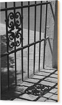 Wood Print featuring the photograph Detail Of Gate In Seville by Cendrine Marrouat