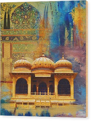 Detail Of Mohatta Palace Wood Print by Catf