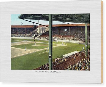Detroit - Navin Field - Detroit Tigers - Michigan And Trumbull Avenues - 1914 Wood Print