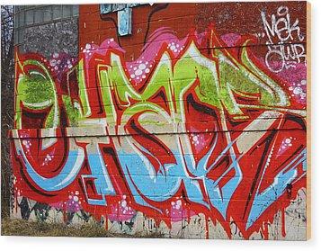Detroit Graffiti Wood Print