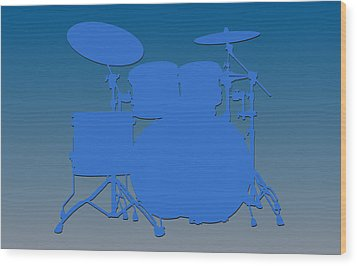 Detroit Lions Drum Set Wood Print
