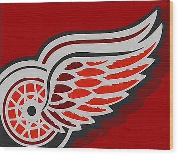 Detroit Red Wings Wood Print by Tony Rubino