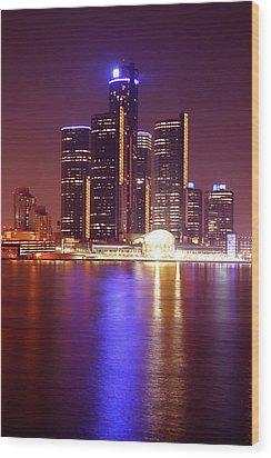Detroit Skyline 5 Wood Print by Gordon Dean II