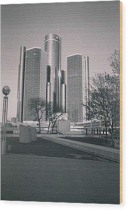 Detroit2 Wood Print
