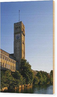 Deutsches Museum Munich - Meteorological Tower Wood Print by Christine Till