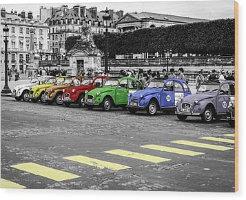 Deux Chevaux In Color Wood Print by Ross Henton