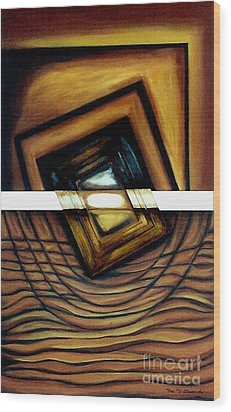 Wood Print featuring the painting Deversity View by Fei A