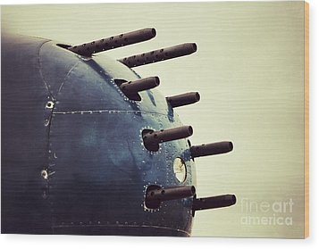 Devil Dog Guns Wood Print by AK Photography