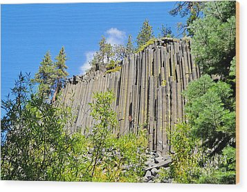 Wood Print featuring the photograph Devils Postpile by Marilyn Diaz
