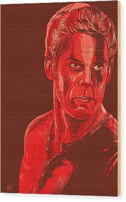 Dexter Wood Print by Giuseppe Cristiano