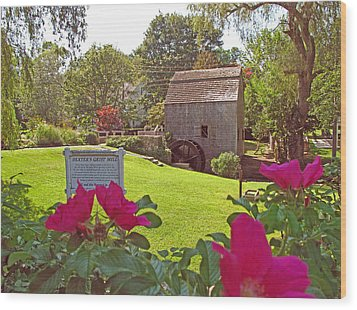 Dexters Grist Mill Two Wood Print by Barbara McDevitt