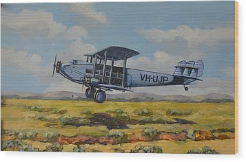 Wood Print featuring the painting Dh Hercules 1929 by Murray McLeod