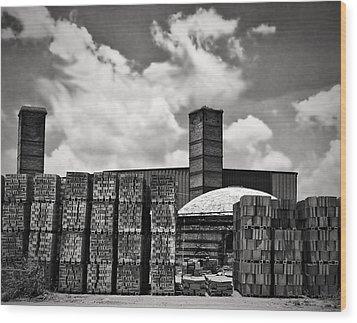 D'hanis Brick Factory Wood Print by Wendy J St Christopher