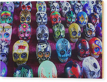 Dia De Los Muertos Wood Print by Timothy Ramos