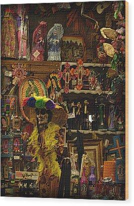 Dia De Muertos Shop Wood Print