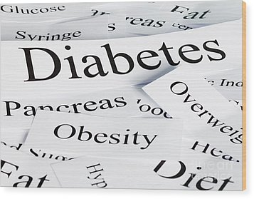 Diabetes Concept Wood Print by Colin and Linda McKie