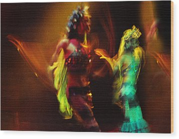 Diabolic. Passionate Dance Of The Night Angels Wood Print by Jenny Rainbow