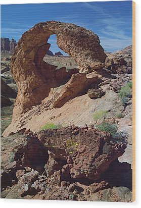 Diagenetic Arch Wood Print