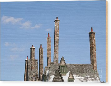 Diagon Alley Chimney Stacks Wood Print