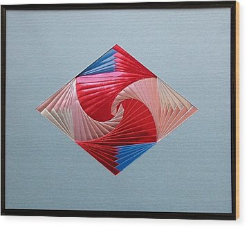 Wood Print featuring the mixed media Diamond Design by Ron Davidson
