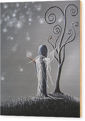 Diamond Fairy By Shawna Erback Wood Print by Shawna Erback