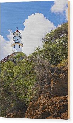 Diamond Head Lighthouse - Oahu Hawaii Wood Print by Brian Harig