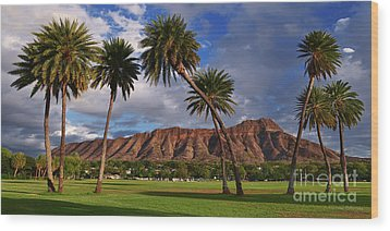 Diamond Head State Monument Before Sunset Wood Print