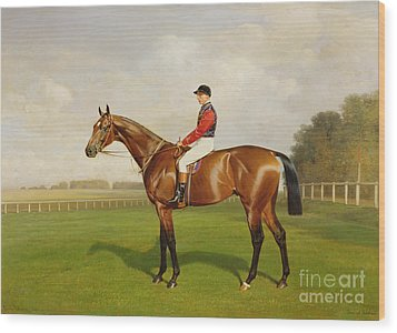 Diamond Jubilee Winner Of The 1900 Derby Wood Print by Emil Adam