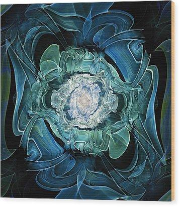 Diamond Nest Wood Print by Anastasiya Malakhova