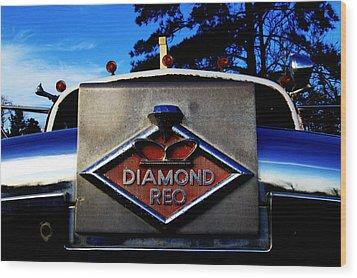 Diamond Reo Hood Ornament Wood Print