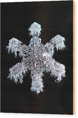 Diamond Snowflake Wood Print