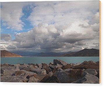 Diamond Valley Lake - California Wood Print by Glenn McCarthy Art and Photography