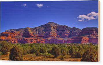 Diamondback Gulch Near Sedona Arizona Iv Wood Print by David Patterson
