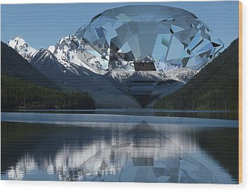 Diamonds Darling Wood Print by Ron Davidson