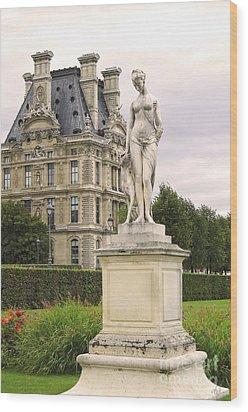 Diana Huntress Tuileries Garden Wood Print