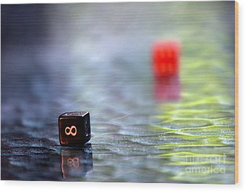 Dice Wood Print by Arie Arik Chen