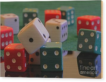 Dice Wood Print by Paul Ward