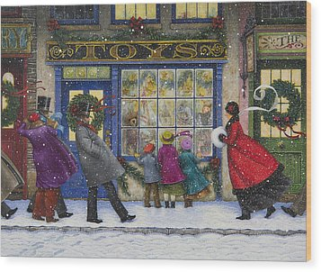 The Toy Shop Wood Print by Lynn Bywaters