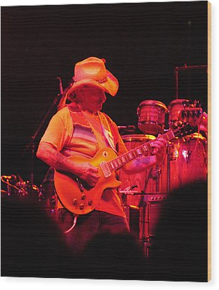 Dickey Betts Jammin Wood Print by Mike Martin