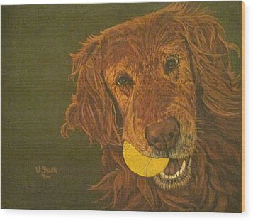 Did Somebody Say Ball? Wood Print