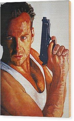 Die Hard Wood Print by Michael Haslam