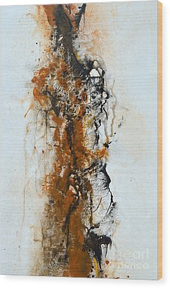 Die Trying - Abstract Wood Print by Ismeta Gruenwald