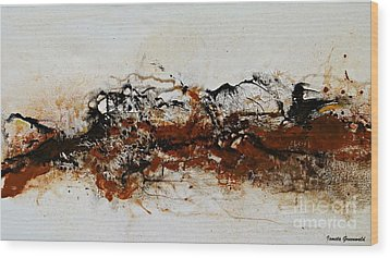 Die Trying1 - Abstract Art Wood Print by Ismeta Gruenwald