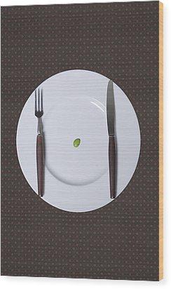 Diet Wood Print by Joana Kruse