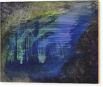 Wood Print featuring the painting Dig by Tracey Myers