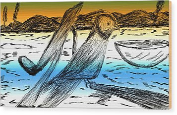 Digital Art 8 Wood Print by Senthil Kumar
