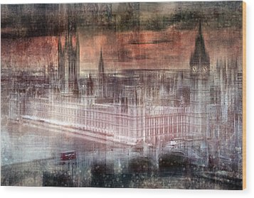 Digital-art London Westminster II Wood Print by Melanie Viola
