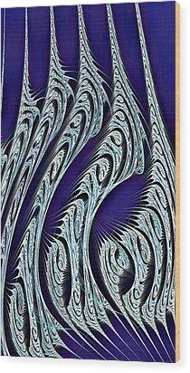 Digital Carvings Wood Print by Anastasiya Malakhova